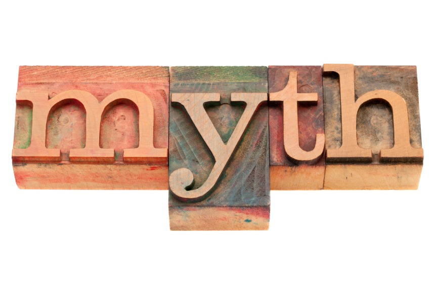 Myth word written in Wood Printing Blocks