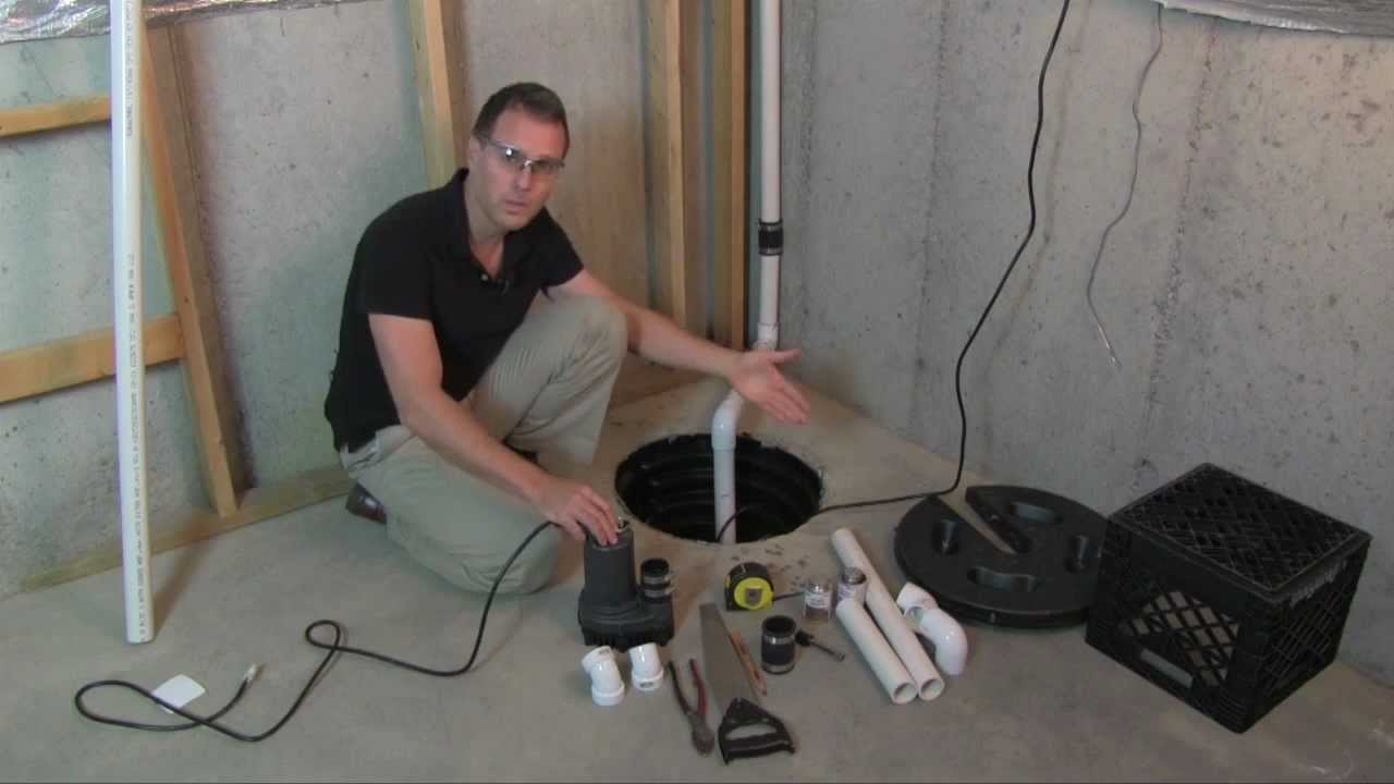A Man explaining about Battery Backup Sump Pump